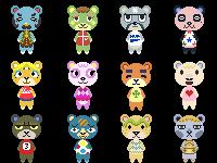 Animal Crossing: New Leaf - Bears Icon Set! by Pelixia