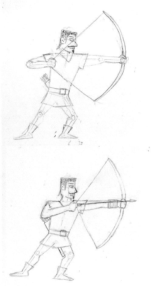 Archer - Pencil sketch