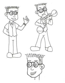 Eric the nerdy sidekick - Character study