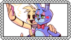 Toy Bonnie X Toy Chica Stamp by craftHayley44