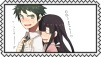 Hajime x Mikan Stamp by craftHayley44