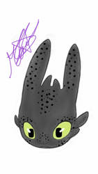 HTTYD - Headbust of Toothless by Xepher06