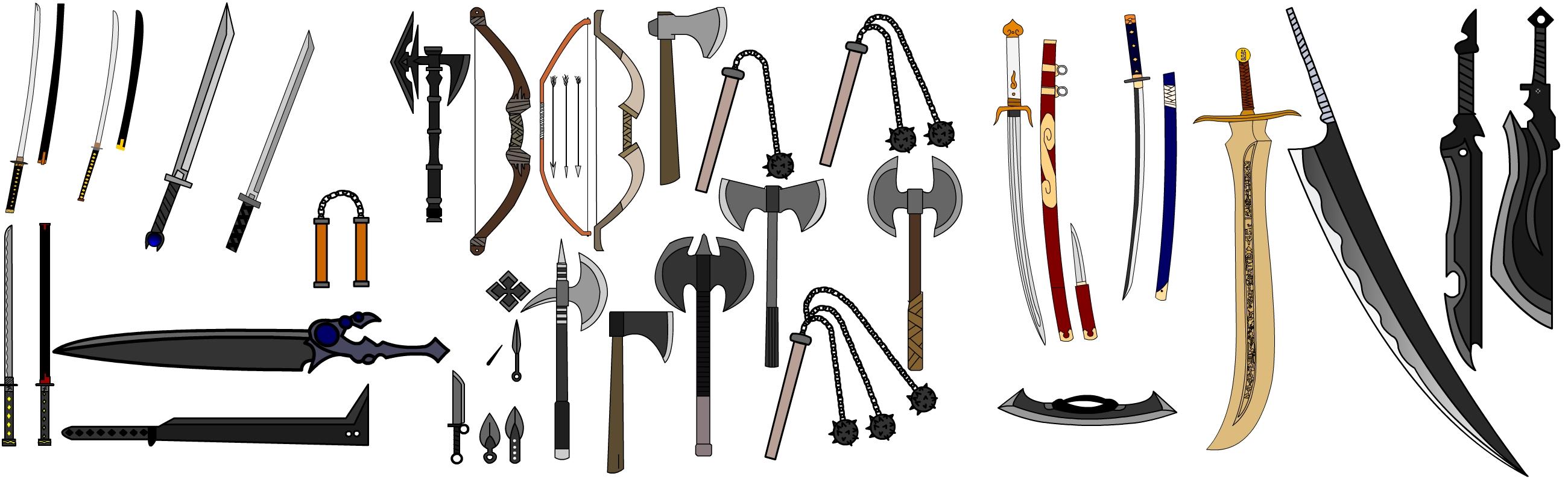 Melee Weapons by ninja-steave on DeviantArt
