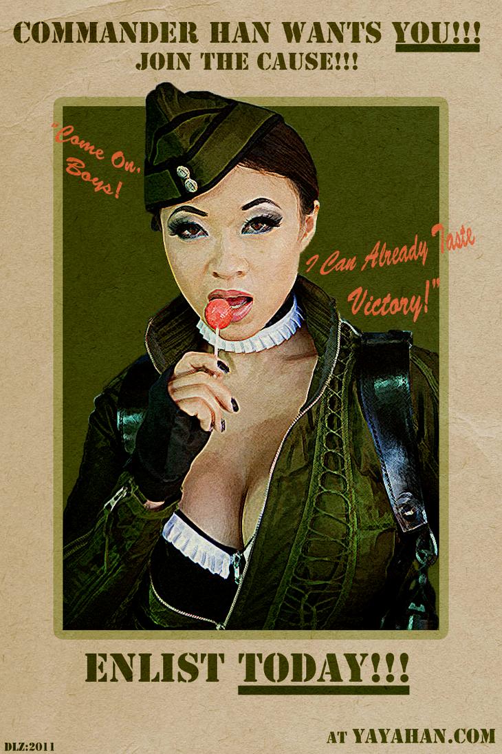 Yaya Han's Amber Fan Poster by DantesLink