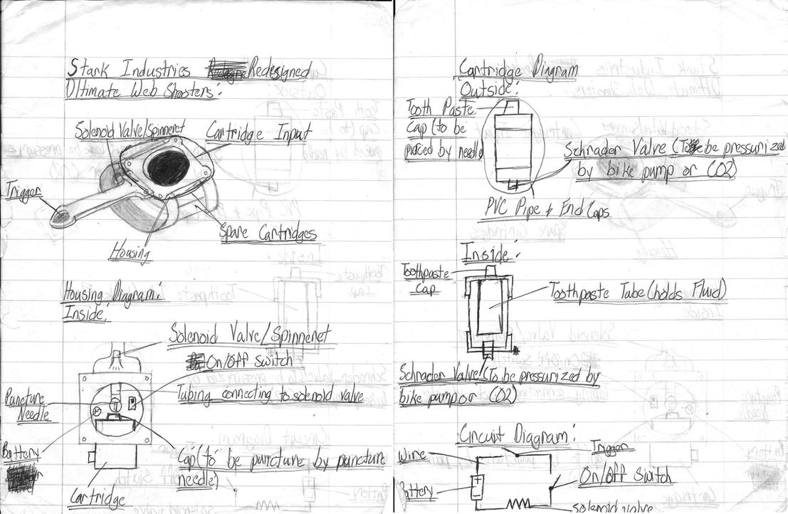 Ultimate spiderman redesigned web shooter by marvelfan22 for Web design blueprints