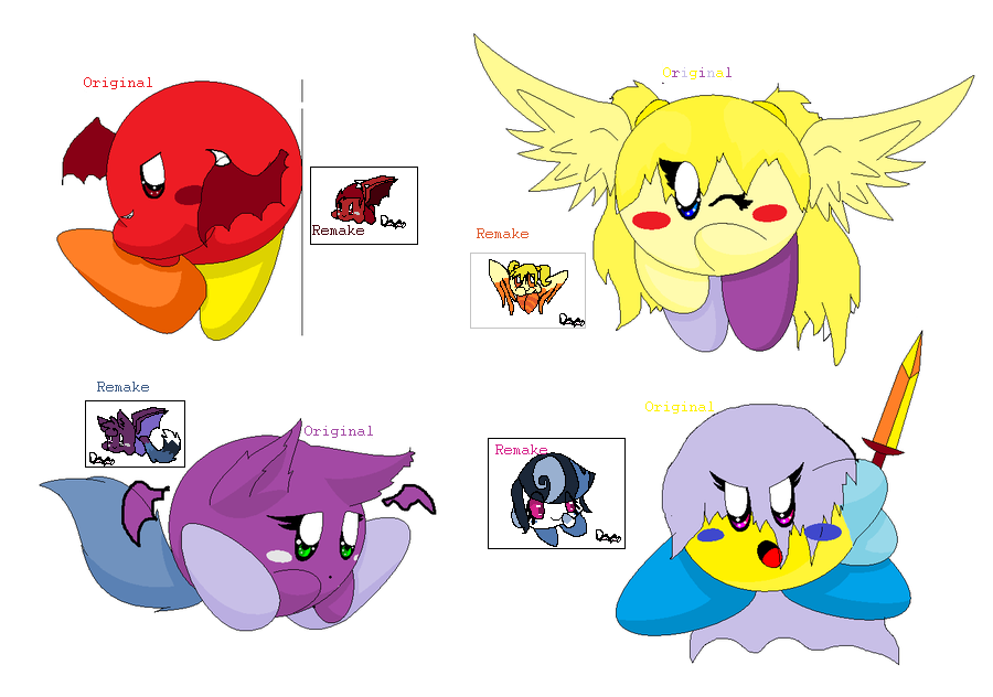 Really old ocs remade by ghostiibear on DeviantArt