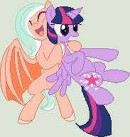 Iris and Twilight Sparkle by dragonsweater