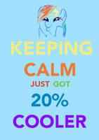 Rainbow Dash is 20-percent calmer by Hyper-Knux