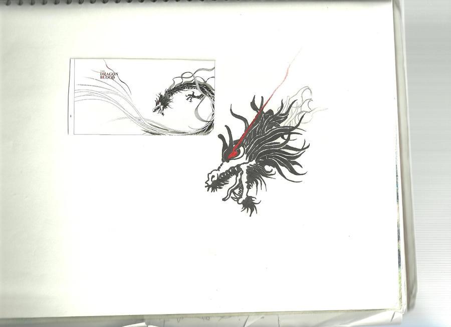 dragon in progress by Arielsparky