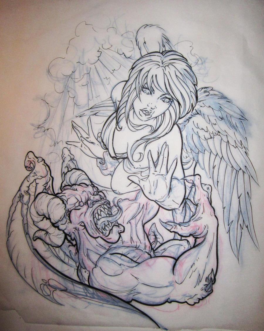 angel and demons drawings - photo #15