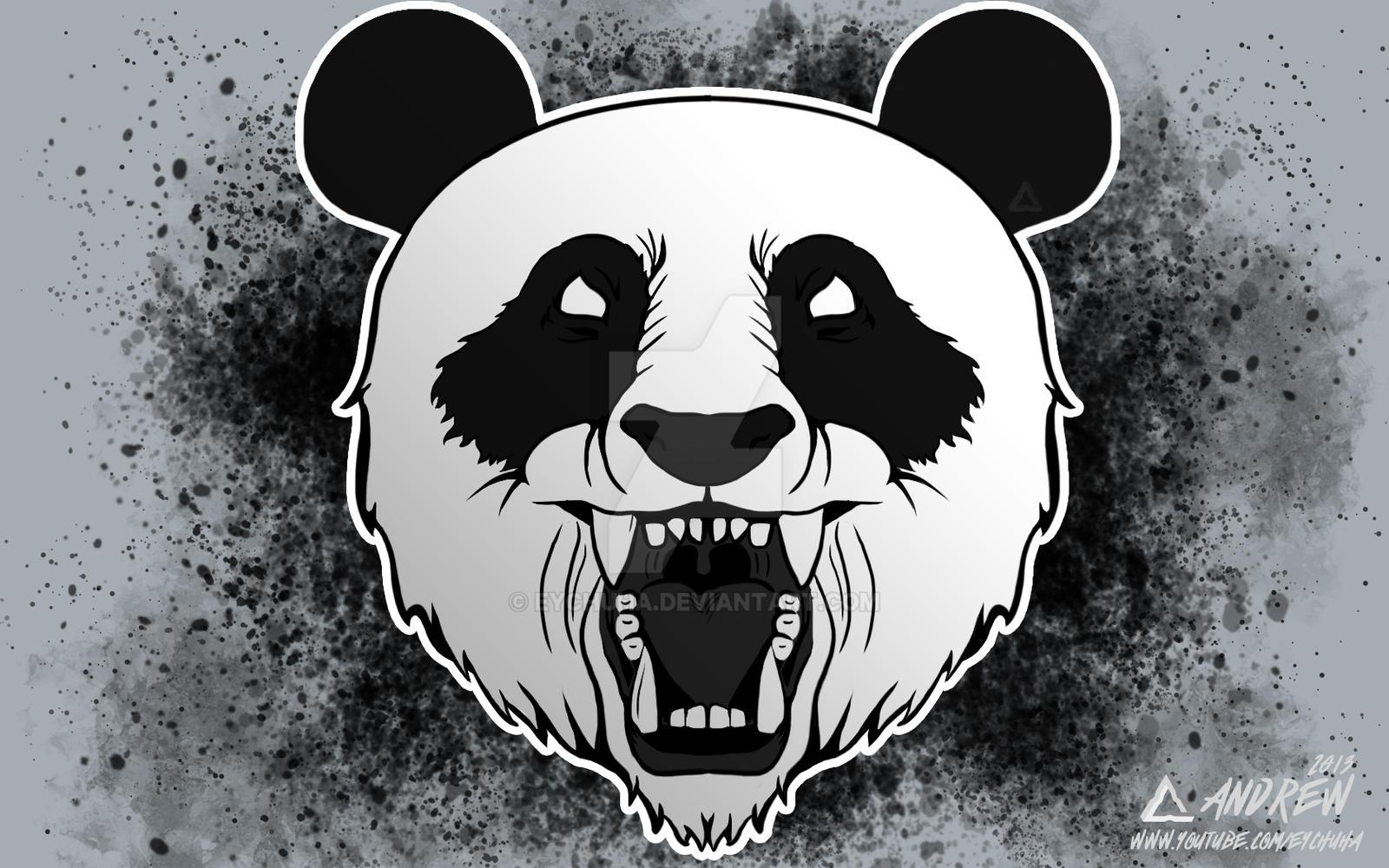Shirt design wallpaper -  Angry Panda T Shirt Design By Eychuha
