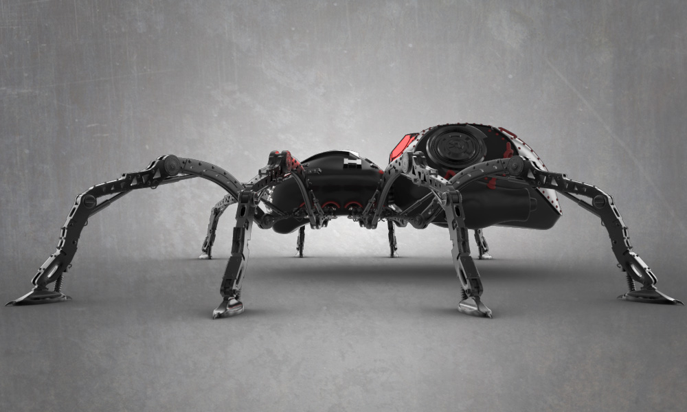WIP Robospider-004 by shellcasing