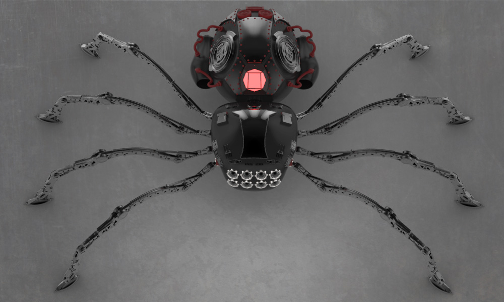 WIP Robot-spider-002 by shellcasing