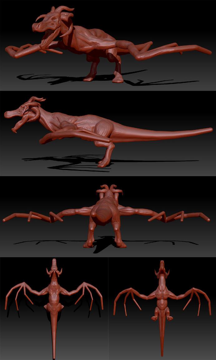 Dragon - Work in progress by shellcasing