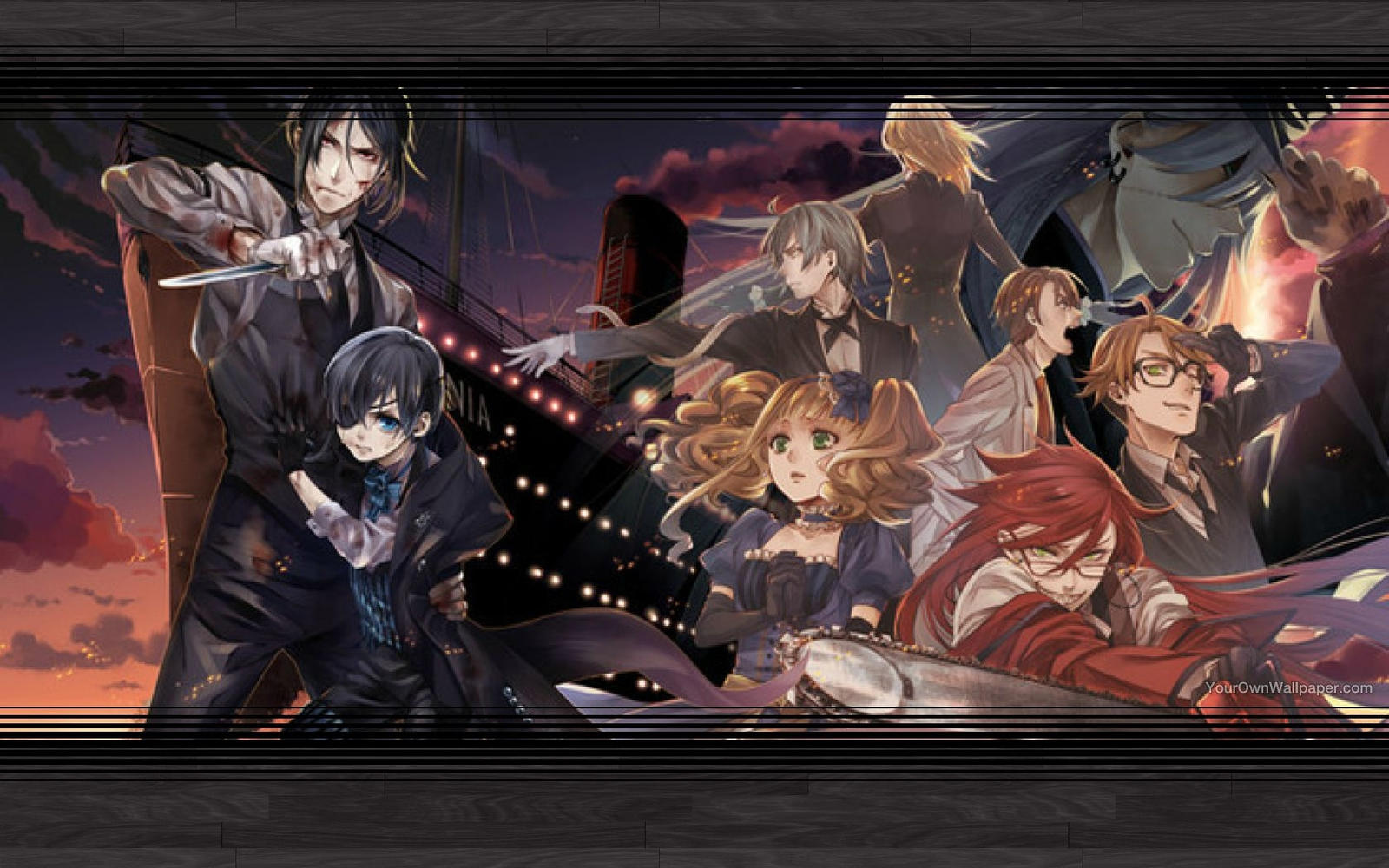Details about  /3D Black Butler A166 Japan Anime Wall Stickers Murals Wallpaper Zoe
