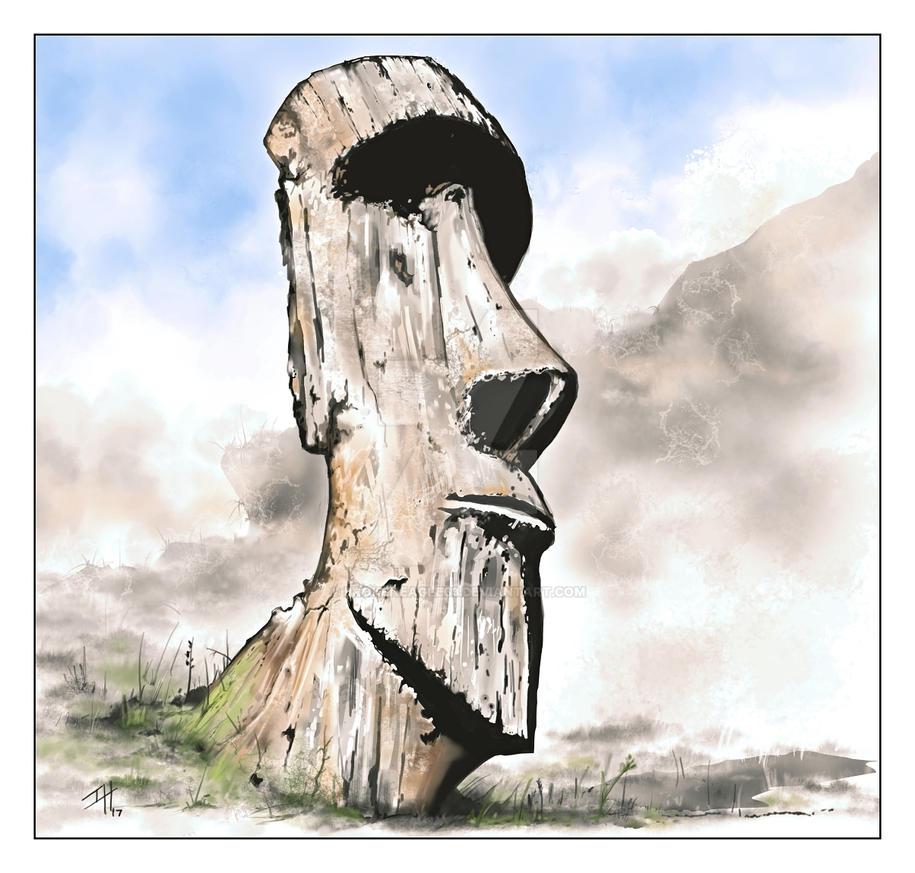 Moai by Brokeneagle63