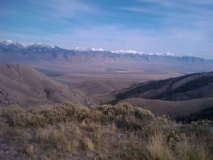 Snow on the Lemhi Mountain Range, Idaho