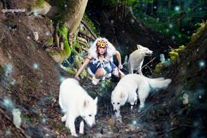 Princess of the Forest - Mononoke Hime cosplay by CorneliaGillmann