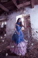 Spinning webs of sorrow - sleeping beauty, briar by CorneliaGillmann