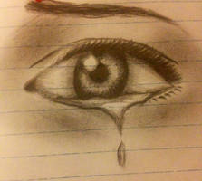 a crying eye by naama6699