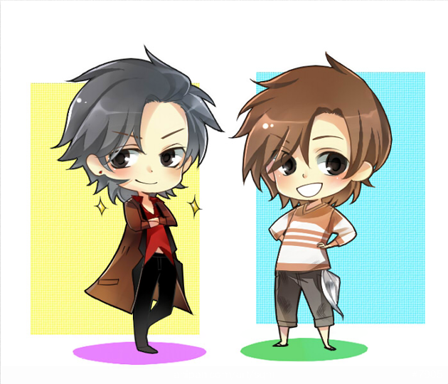REI and Reizou Chibies by littlebabyshoes
