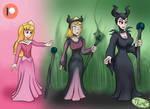 Aurora turns into Maleficent