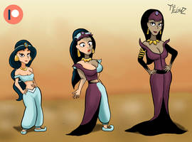 Jasmine turning into Nasira by ThatFreakGivz