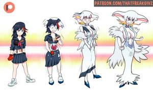 Ryuko turning into Ragyo