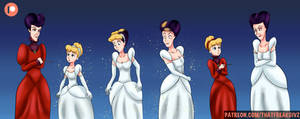 Cinderella Transforming into Lady Tremaine by ThatFreakGivz