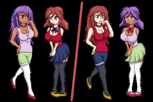 Esma and Ika ColorSwap by ThatFreakGivz