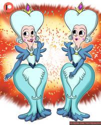 Queen Moon Butterfly Twins by ThatFreakGivz
