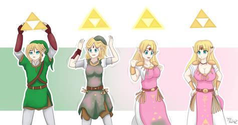 Link Transform into Zelda