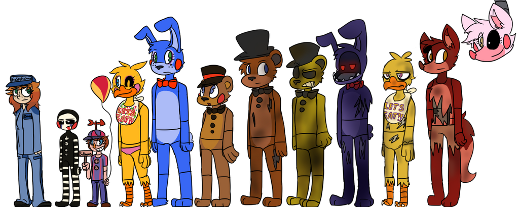 lookie all these animatronics by hawkfurze on deviantart