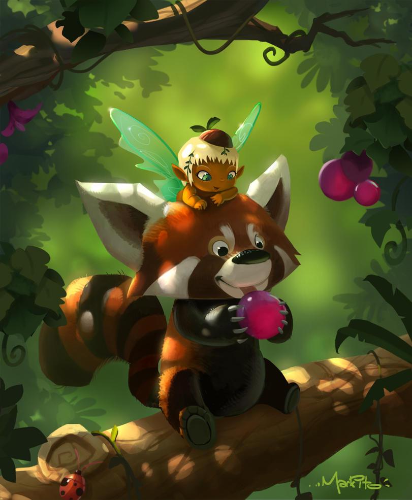 Markito TreePanda and ForrestSprite by Mark-Ito