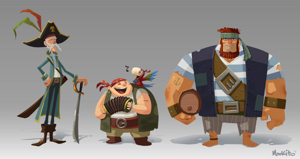 MarkHansen PirateCharacters by Mark-Ito