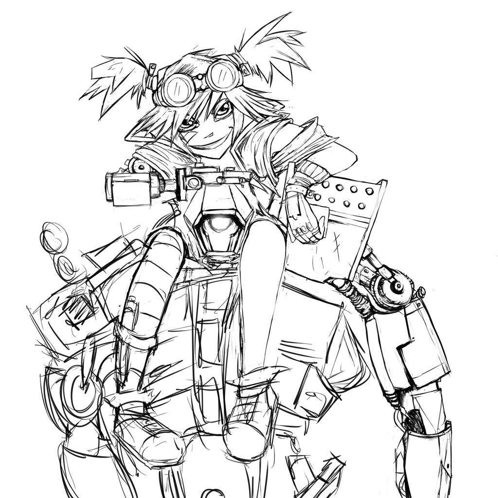 gaige the mancer wip by britty mae on deviantart