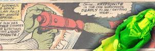 Supergirl Green Kryptonite Comic Book Manip