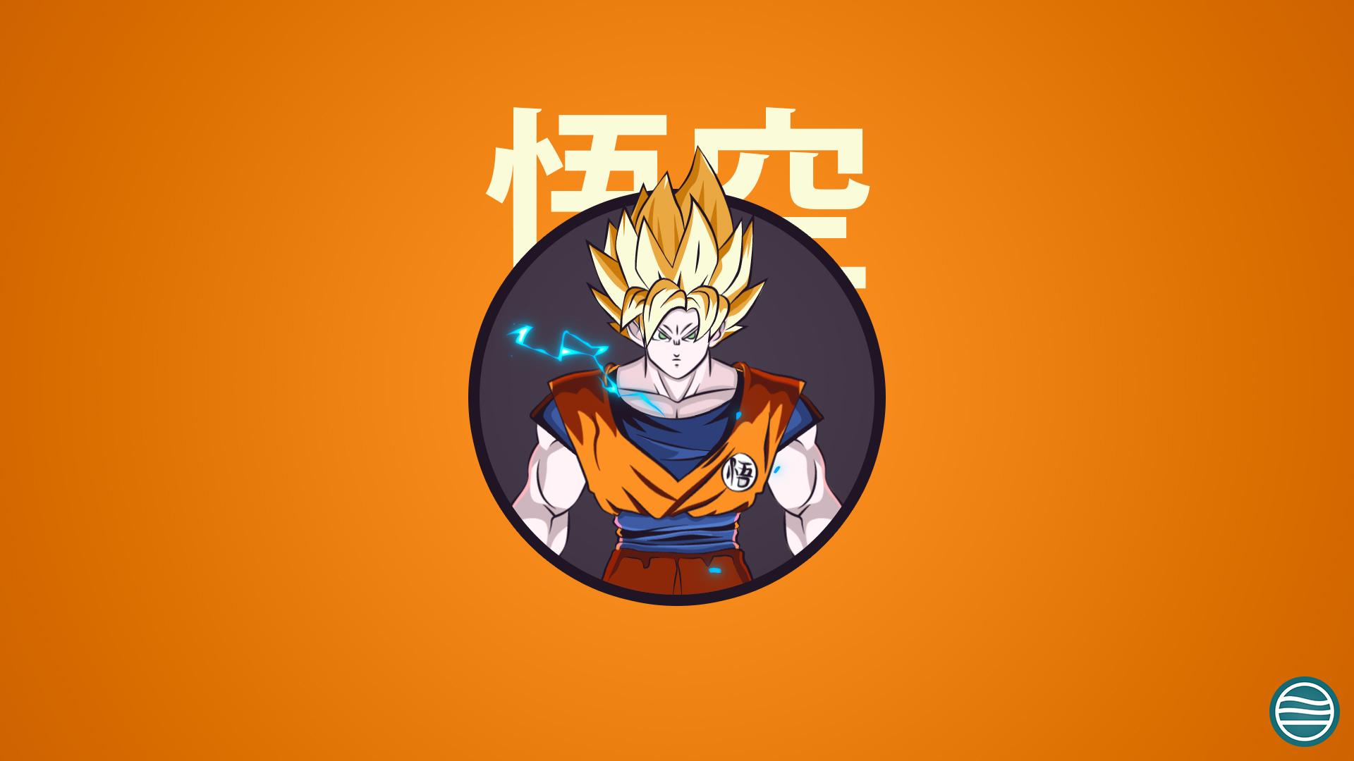 Ssj2 Goku Dragonball Z Mascot Design Wallpaper By