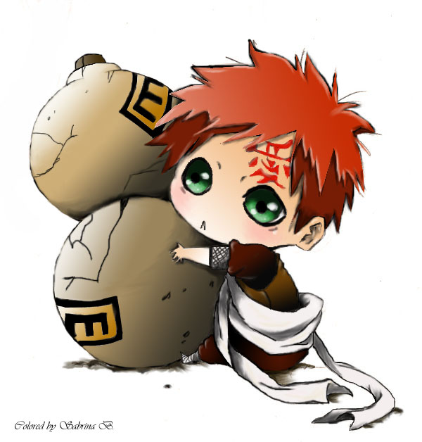 gaara chibi by deisy-angel Gaara And Naruto Chibi