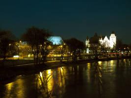 Danube Shores by Night by shutterlight