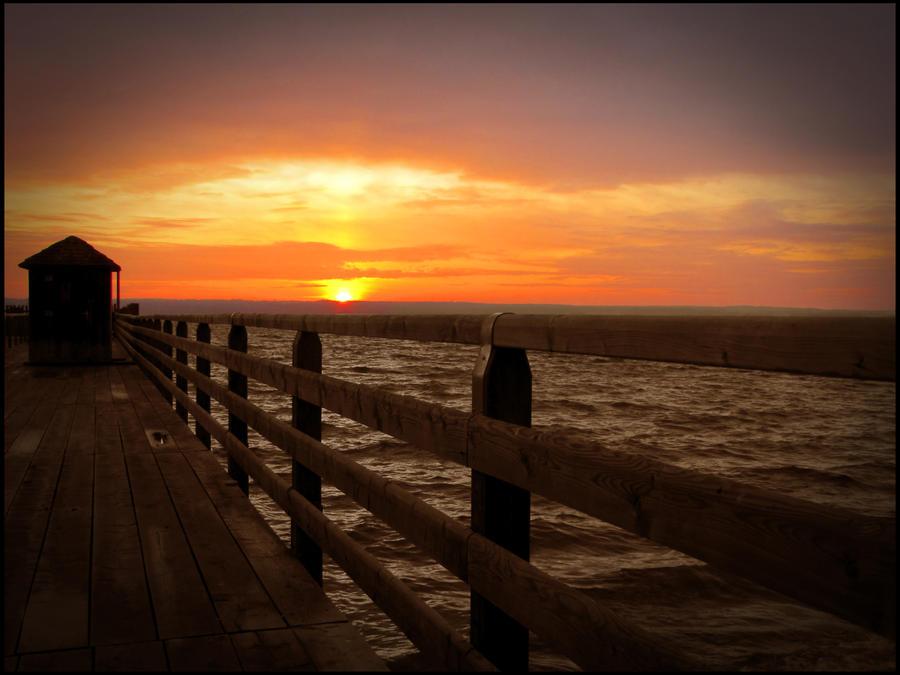 Cold Sunset by shutterlight