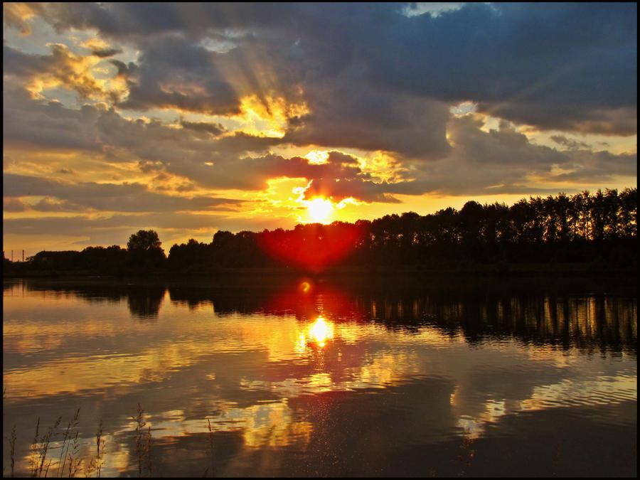 Sunset over Danube