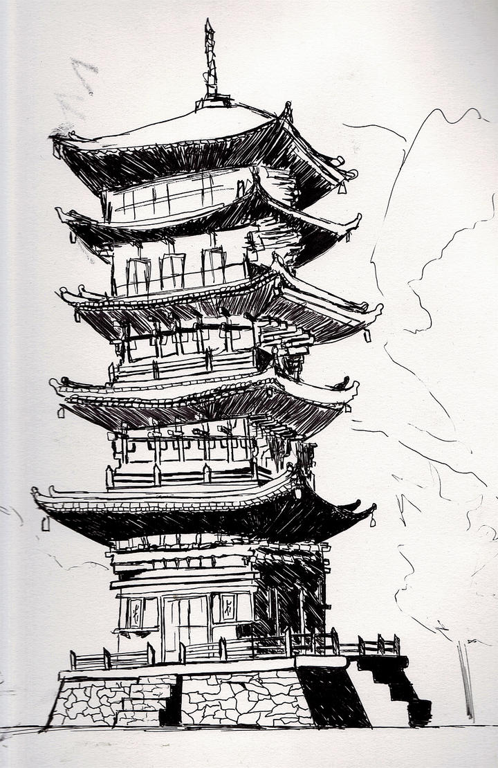 Japanese Temple By Superwoman88
