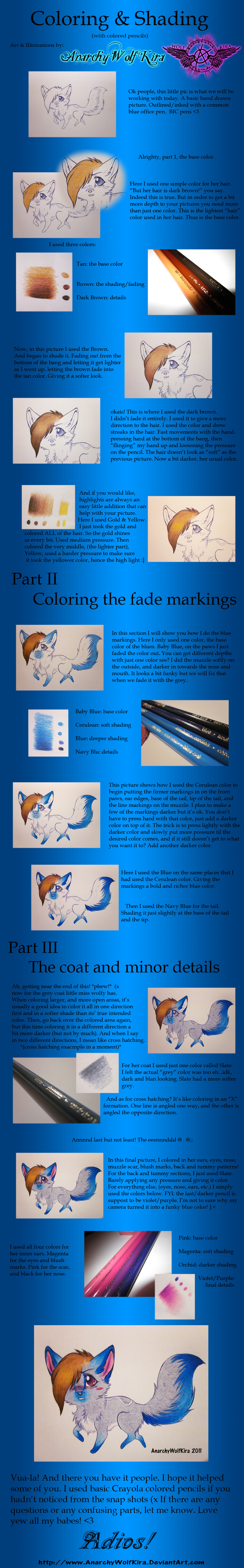 How to color and Shade Tutorial by AnarchyWolfKira