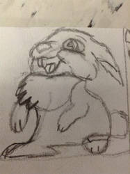 Mini Sketch of Thumper from Bambi