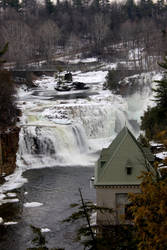 winter at Ausable Chasm by bydandphotography