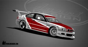 BMW E46 GTR drift car_vector