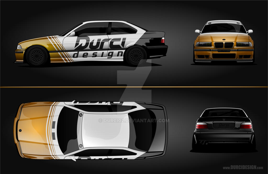 BMW E36 coupe_livery template by DURCI02