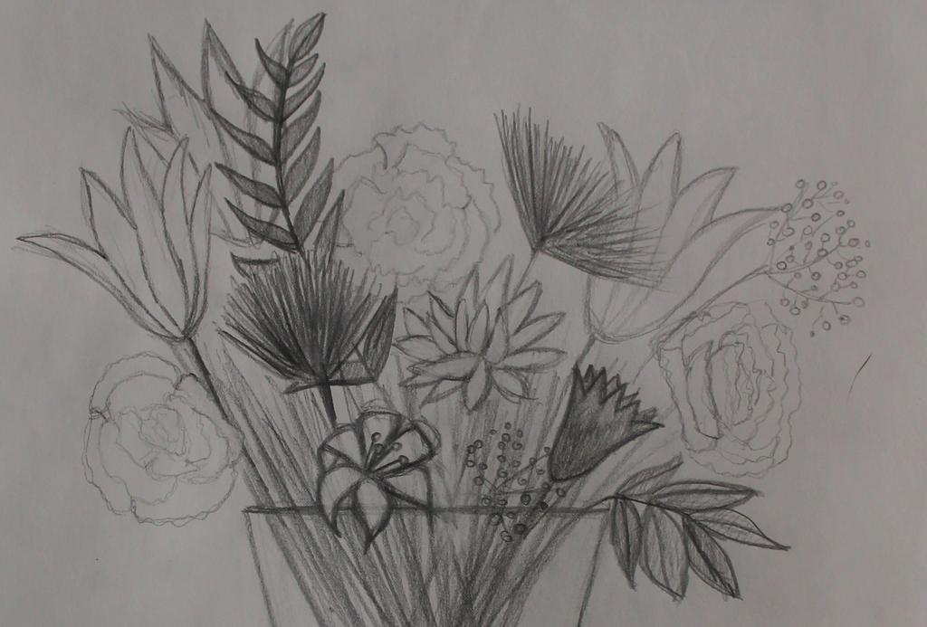 Flowers In Vase Sketch By Savannahpatterson On Deviantart