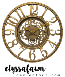 PNG (23) STEAMPUNK CLOCK by elyssafawn